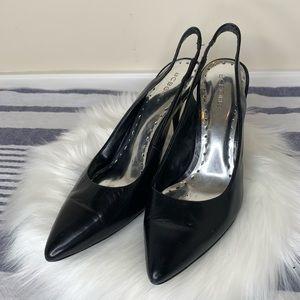 BCBGirls black kitten heels with heel strap